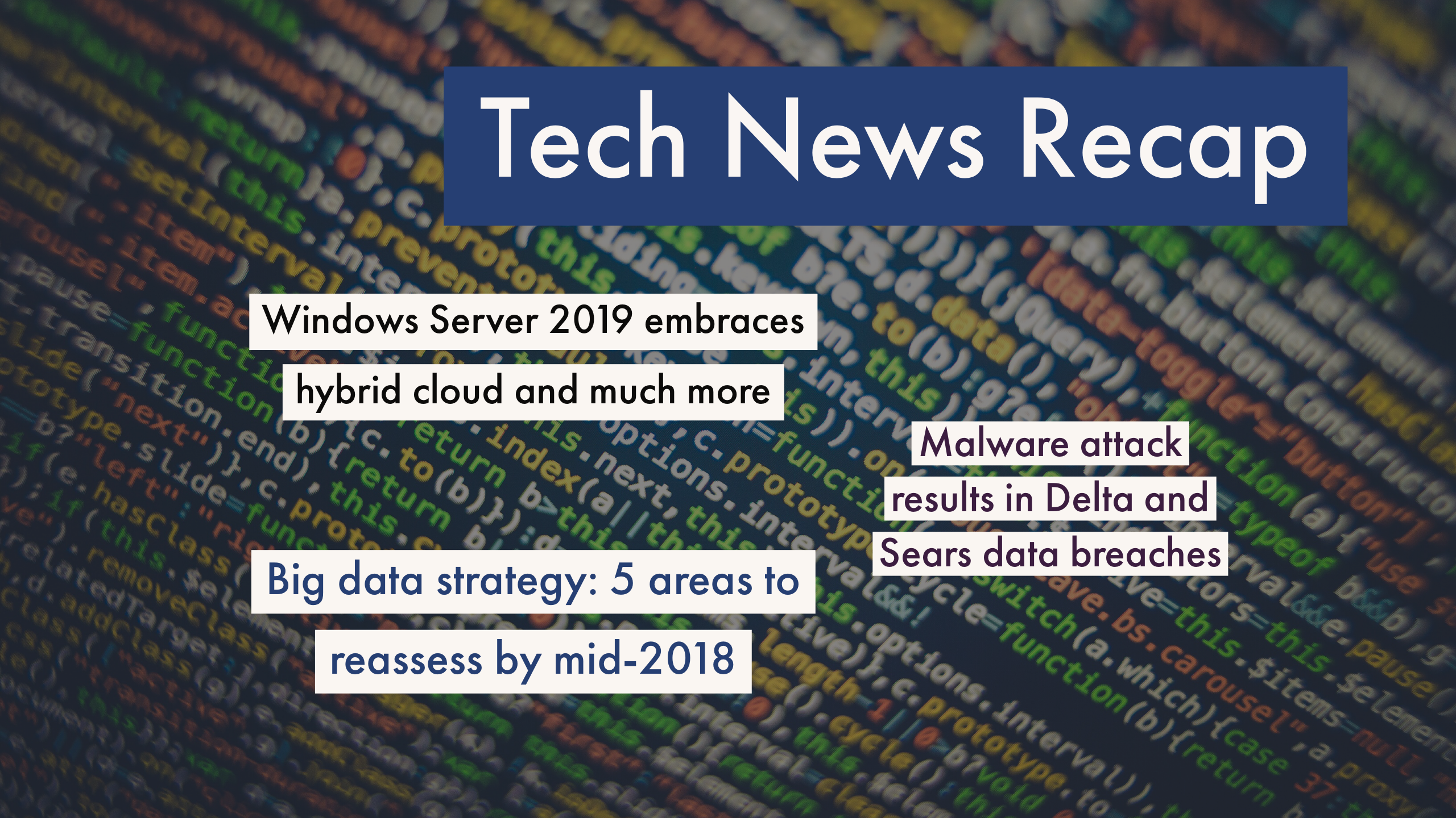 Tech News Recap
